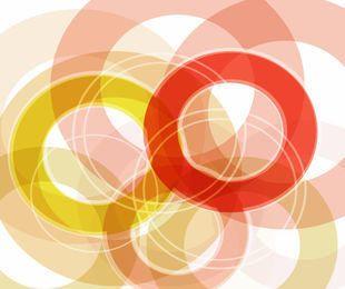 Resumen circular fondo multicolor superpuesto