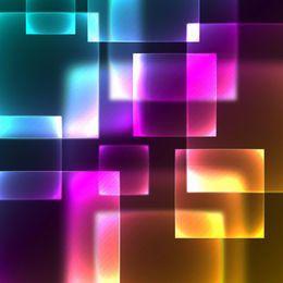 Neonglühen-Hightech quadriert Hintergrund