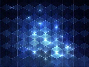 Glowing Blue Triangular Pattern Background