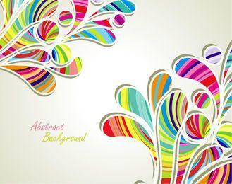 Colorful Stripy Splashed Swirls Background