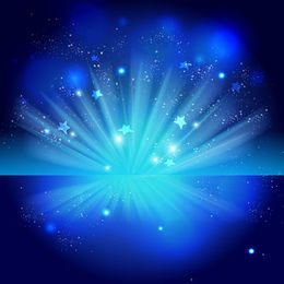 Sparkling Blue Celebration Night Background