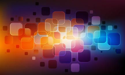 Glossy Abstract Colorful Squares Background