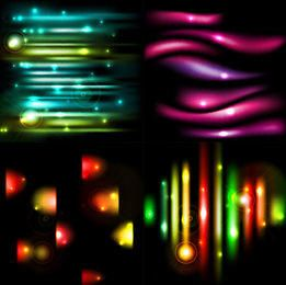Colorful Light Effect Background Set