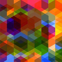 Rhombus Arrowhead Polygonal Colorful Background