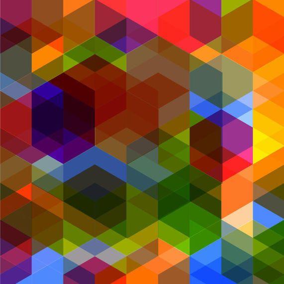 Fondo colorido poligonal de la punta de flecha del rombo
