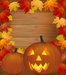 Autumn Framed Creepy Pumpkin Halloween Poster