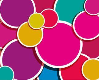 Círculos coloridos de fundo de etiqueta
