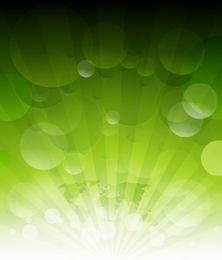 Shining Sun Rays on Green with Bubbles & Map