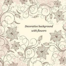 Vintage Decorative Swirling Grungy Floral Frame