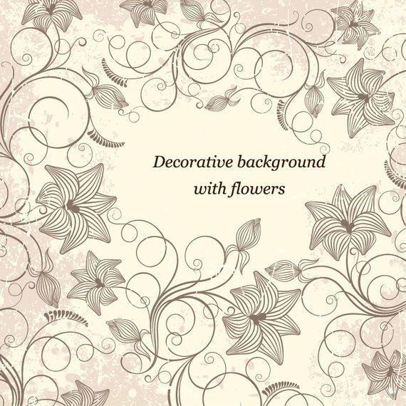 Marco floral que remolina decorativo del vintage