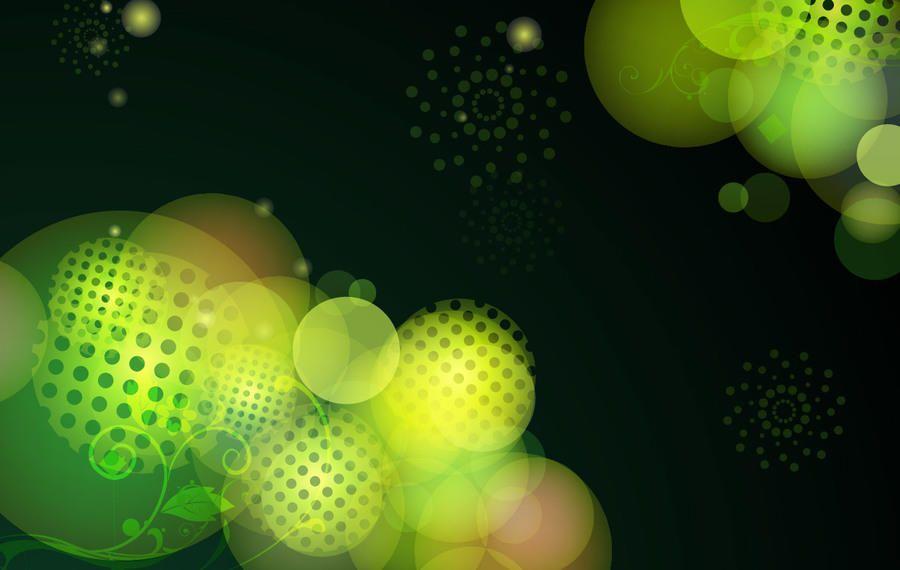 Bokeh fundo verde com meios-tons
