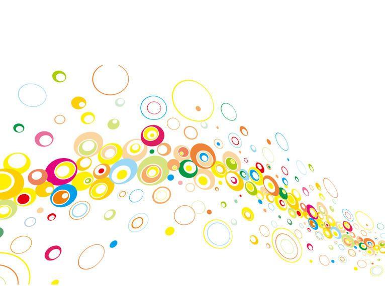 Fondo De Pantalla Abstracto Flores Y Circulos: Colores Flotando Círculos Abstractos De Fondo