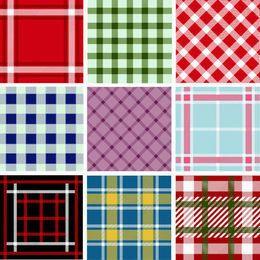 Colección inconsútil del patrón de tela escocesa
