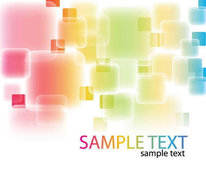 Colorful Abstract Fluorescent Squares Background
