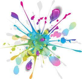Salpicar la pintura de tinta de colores de fondo
