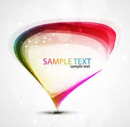 Colorful Droplet Banner Template