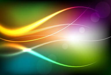 Colorful Background with Bright Curves