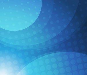 Semitono azul con círculos de vanguardia