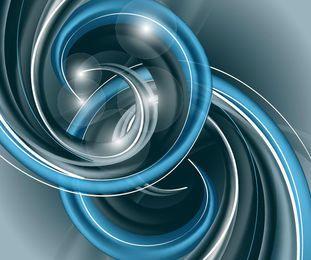 Abstracto 3D espiral fondo de hélice azul