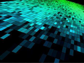 Quadrados de alta tecnologia em mosaico