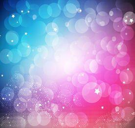 Fondo rosa azul con burbujas bokeh