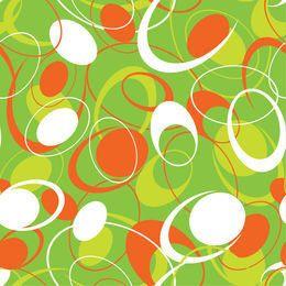 Patrón circular plana abstracta sin fisuras