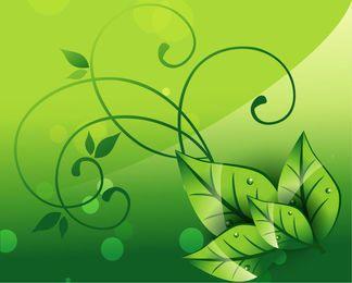 Fondo floral elegante de la naturaleza de los remolinos