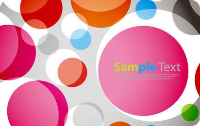 Colorful Circles Background Template
