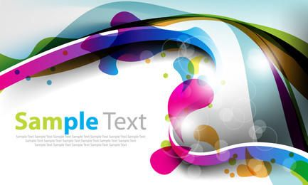 Colorful Abstract Splashed Curves Background