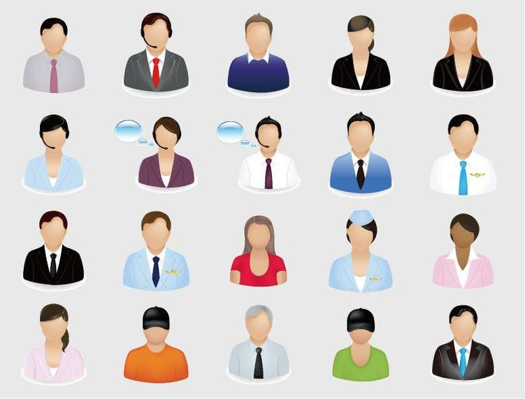 Professional Character Icon Set - Vector download