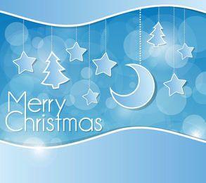 Winter Blue Christmas Wallpaper Decoration