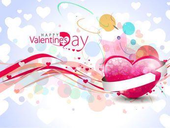 Bokeh abstracto colorido y fondo de San Valentín de corazones