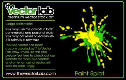 Paint Splat Poster
