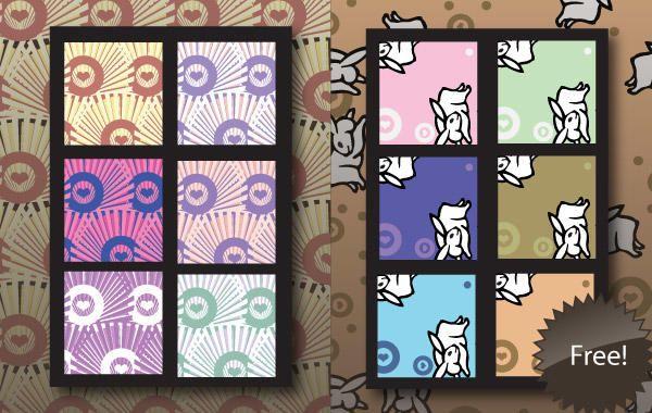 Free Illustrator Patterns - Japanese Bunnies