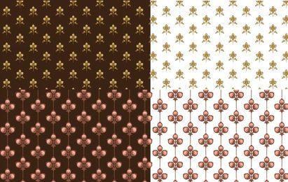 Floral Scrapbooking patrones sin fisuras