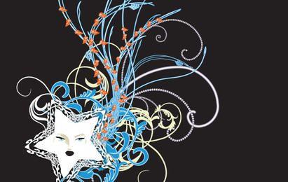 Cachos Swirly 6 Neon Star