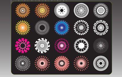 Freebie Ridiculously Cool Hippy Flower Symbols