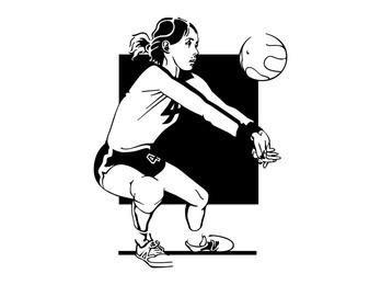 Bosquejo del retrato de la muchacha del voleibol