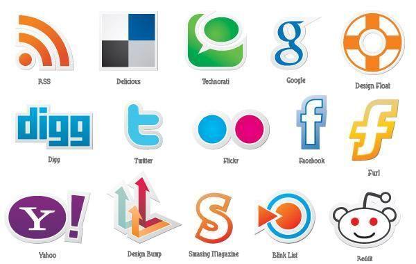 Conjunto de ícones sociais gratuitos