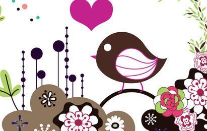 Cartão De Pássaro