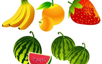 Free Vector Fruit Icons
