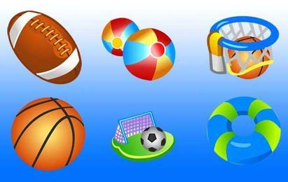 Vector libre deporte iconos