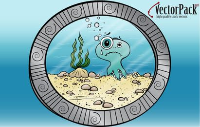 Polvo visto do submarino