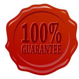 Tag de garantia 100% da borda derretida
