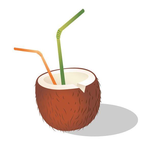 Coctel De Coco Con Paja