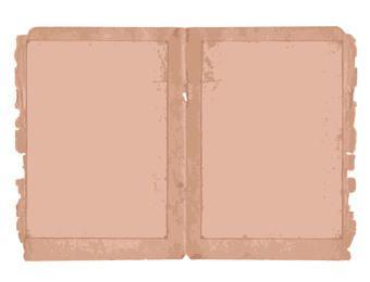 Dos pliegues rasgados de papel viejo