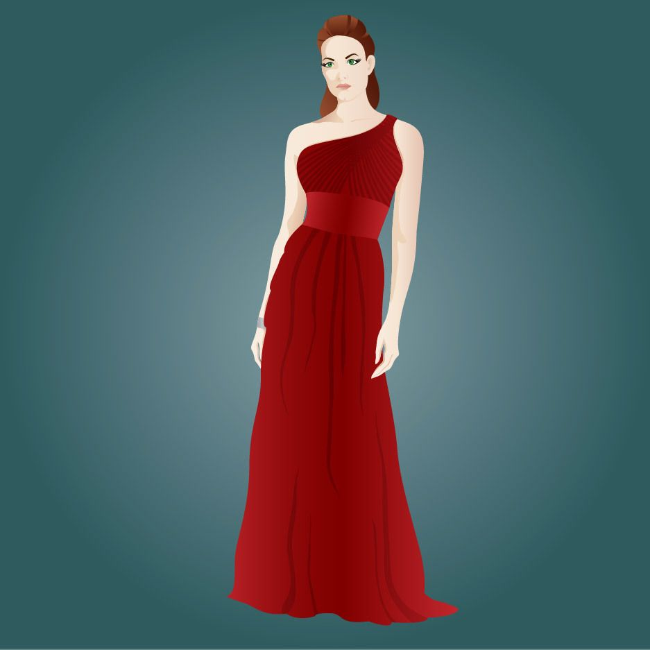 Hot Party Dressed Beautiful Girl - Vector download
