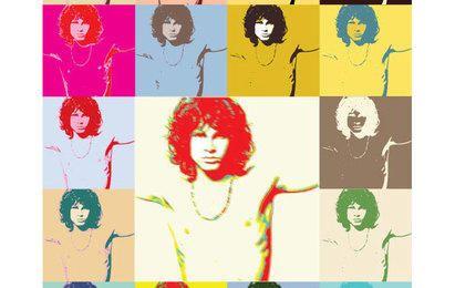 Pôster do pop art Jim Morrison The Doors