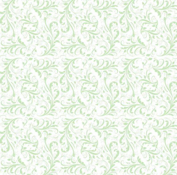 Simplistic Flat Seamless Floral Pattern