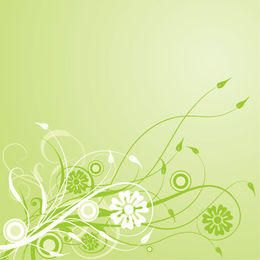 Enredadera verde remolino de fondo frondoso